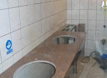Docinanie blatu pod umywalkę
