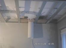 wykonanie instalacji wentylacyjnej do okapu i konstrukcja sufitu podwieszanego z płyt G-K